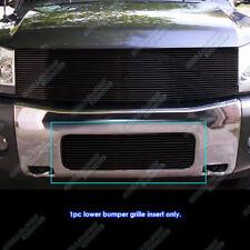 Fits 2004-2015 Nissan Titan/04-07 Armada Lower Bumper Black Billet Grille