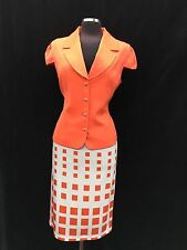 """EFFETTO  ITALY SKIRT SUIT/RETAIL$200/SIZE 18/LINED/NEW WITH TAG/SKIRT LENGTH 27"""""""