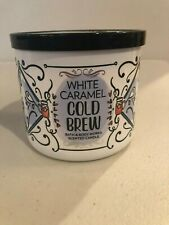 Bath & Body Works WHITE CARAMEL COLD BREW Candle SCENTED 3-Wick 14.5 oz Pick 1