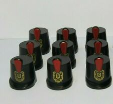 Lego 9 Minifigure Black Shako Hat Hats Red Feather Imperial Soldier Army