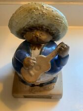 Signed Rodo Padilla Mariachi Player Pottery with Certificate of Authenticity