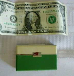 Nice Antique Art Deco Lentheric Rouge Monochrome Compact Green & Ivory - Unused