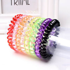 5pcs colorful elastic telephone wire cord head ties hair band rope ponytail paLD