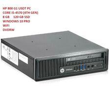 HP PC EliteDesk 800 G1 i5-4570s USDT PC 8GB RAM 120GB SSD DVDRW WiFi Win10 PRO