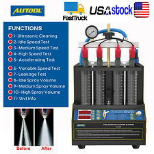 Car Motorcycles Fuel Injector Tester Cleaner Cleaning Machine Ultrasonic Heating