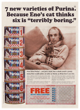 Brian Eno **LARGE POSTER** FUNNY *spoof* Purina Cat Food Ad CS80 EMS Synthi MOOG