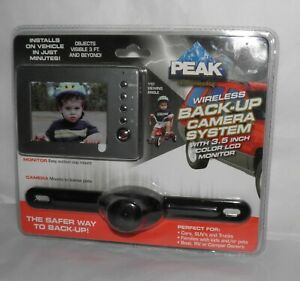 "Peak Digital Wireless Backup Camera 3.5"" Color Monitor Easy Install NEW SEALED"