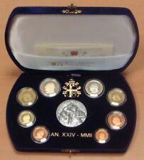 VATIKAN 2002 KMS PP Proof mit Silbermedaille in Etui, Pap Johannes Paul