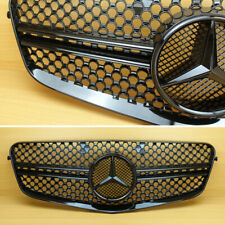 Mercedes Benz E-Class W212 E63AMG Look 2010-13 All Gloss Black Front Grille