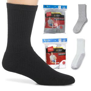 Hanes Adult Mens 6 Pack Durable Cushioned Grey Heel No Show Socks