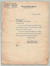 1953 US SENATOR LEVERETT SALTONSTALL Signed AUTOGRAPH / MASSACHUSETTS GOVERNOR