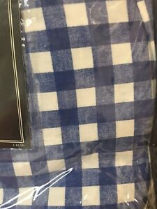 Vtg Ralph Lauren Twin Bedskirt Gwen Blue White Gingham Dust Ruffle New Farmhouse