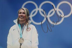MIKAELA SHIFFRIN 32 WM 21 Ski Olympia Foto 20x30 8x12 signed IN PERSON Autogramm