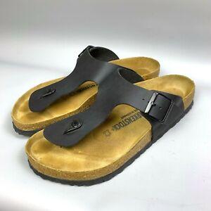 BIRKENSTOCK Gizeh Thong Black Men's Sandals Size 44 US 11 Birko-Flor Germany
