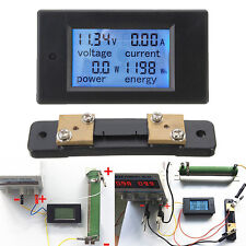 100A DC Digital Power Meter Energy Control Panel Voltmeter Ammeter with Shunt