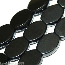 """MAGNETIC HEMATITE BEADS FLAT OVAL BEADS 10X14X4MM 16"""" BEAD STRANDS MH71"""
