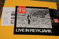 PSYCHIC TV LP LIVE IN REYKJAVIK ORIG UK 1987 EX++ TOP AUDIOFILI