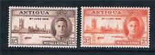 Antigua 1946 Victory SG 110/1 Gomma integra, non linguellato