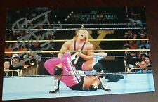Bret The Hitman Hart Signed 1999 Wrestlemania X Live 4x6 Photo Card WWE vs Owen