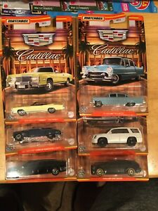 BRAND NEW 2021 WALMART EXCLUSIVE MATCHBOX CADILLAC SERIES WAVE 2 LOTS OF 6