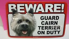 Cairn Terrier -Beware Guard Dog Sign,Scandical,St 820 , Laminated,Free Ship