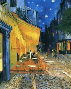 Print - Café Terrace at Night, 1888 by Vincent Van Gogh