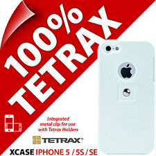 New Tetrax Xcase for Apple iPhone 5 / 5S / SE Protective Case + Integrated Clip
