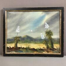 Jean Harris Original Watercolor_Signed LR_Desert, Mountains, Flowers_SHIPS FREE