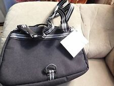 GAP KIDS LUNCH BAG BLACK/GRAY ZIPPERED~PACKABLE-ATTACHABLE-DETACHABLE~NEW
