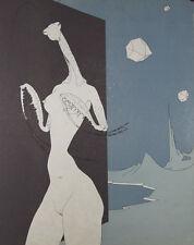 L'amante religieuse : Lithographie de Felix LABISSE