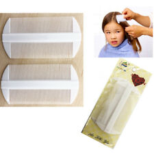 2 Lice Comb Head Kids Hair Care Double Sided Tooth WHITE Fine Nit Egg Removal