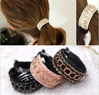 Women Fashion Hair Claw Solid Hairpins Ponytail Headband Hair Clips AccessorieLJ