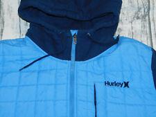 HURLEY HOODIE JACKET QUILTED SWEATSHIRT SLEEVES HOOD BLUE MEN'S XL