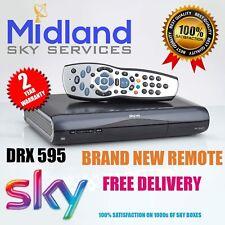 SKY HD BOX AMSTRAD DRX595 LATEST DESIGN MINI SLIMLINE BOX + REMOTE CONTROL