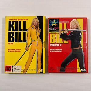 Kill Bill Volume 1 and 2 (DVD 2 discs) Quentin Tarantino Uma Thurman Region 4