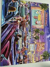 """White Mountain 'Drive-In Movie' Puzzle - 1000 Large Piece 24"""" x 30"""", Used Once."""