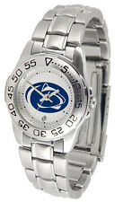 Penn State Nittany Lions Licensed Women Ladies Sport Steel Band Watch