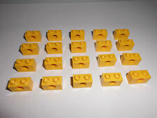 Lego Technic (3700) 20 agujeros piedras 1x2x1, en amarillo de 8439 8872 8438 4559 8037