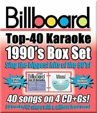 Billboard Top 40 Karaoke: 1990s [Box] [Box] by Sybersound (CD, 2008, 4 Discs, Sybersound Records)