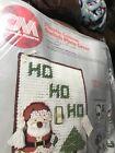Columbia-Minerva Plastic Canvas Switch Plate Cover Santa Saying Ho Ho Ho VIN 83