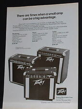 1976 Peavey Backstage, Pacer, Artist guitar amplifiers photo print Ad