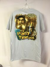 New Men's Duck Dynasty T-Shirt It's Party Time Jack Beige Size Medium #911Z