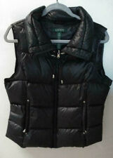 WOMENS DOWN MED. RALPH LAUREN PUFFER VEST, BLACK, EXCELLENT CONDITION