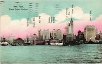 Vintage Postcard - Posted 1909 Buildings From The Hudson New York City NY #4429