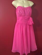 ALFRED ANGELO Women's Formal Fuchsia Pink Strapless Dress - Size 16 - EUC