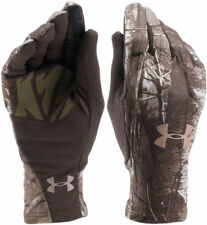 Under Armour Women's ColdGear Scent Control Liner Gloves Camo Hunt Realtree Xtra