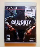PS3 Call of Duty Black Ops Rated M Mature 17+ Special Ops Free Shipping