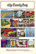 Quicksilver Messenger Service 1967 Family Dog Concert Poster