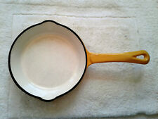 ?Porcelain Enameled Cast Iron Skillet **Good Condition**