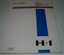 Electrical Manual Troubleshooting Hyundai H-1 Werkstatthandbuch Schaltpläne 1999
